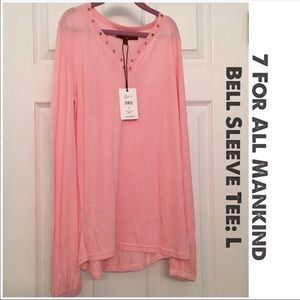NEW! 7 For All Mankind Bell Sleeve Tee: L